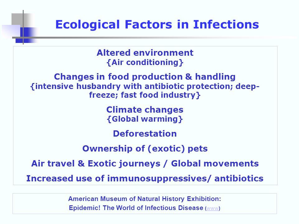 Ecological Factors in Infections