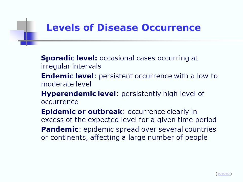 Levels of Disease Occurrence
