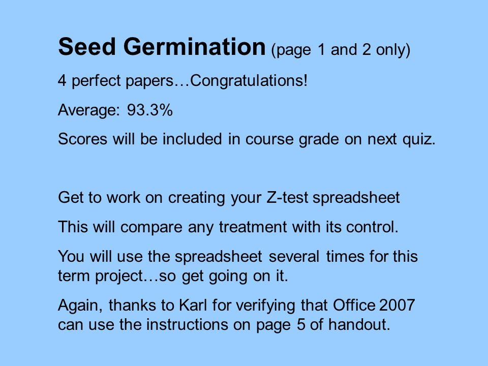 Seed Germination (page 1 and 2 only)