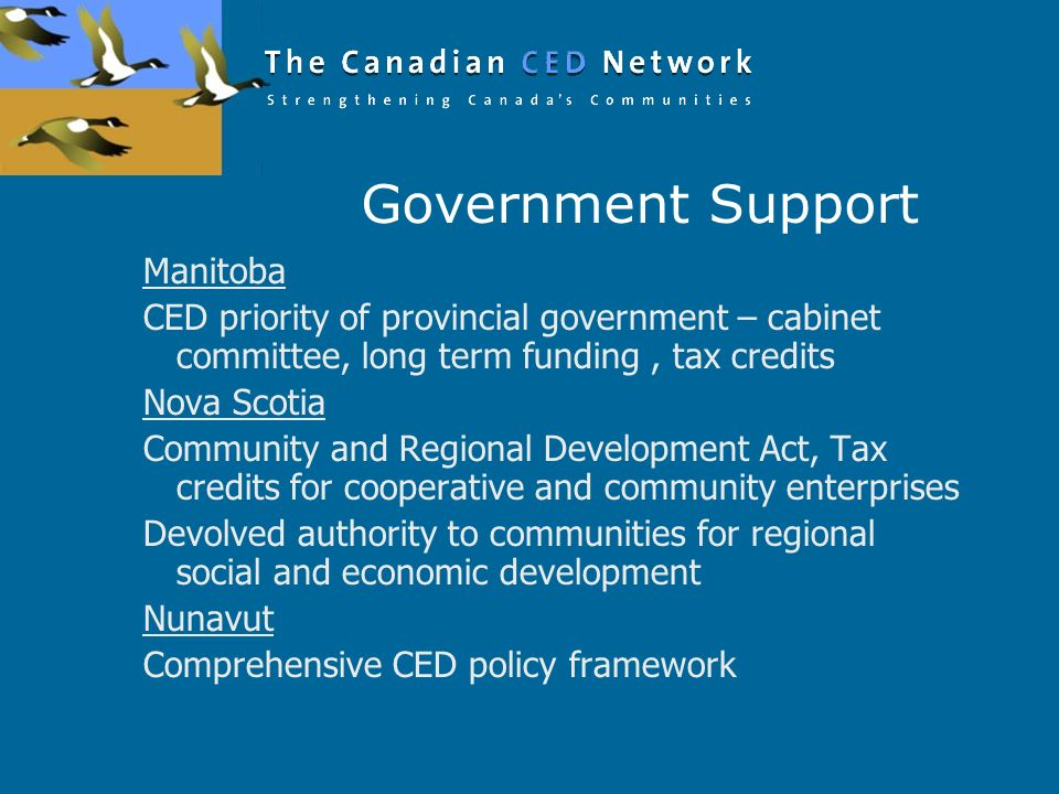 Government Support Manitoba