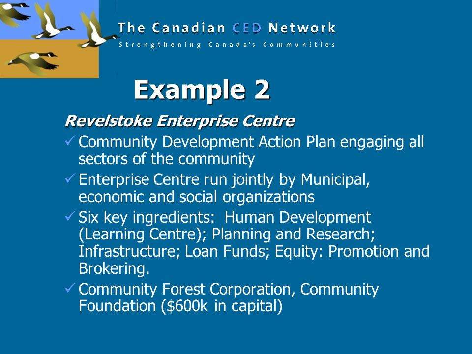 Example 2 Revelstoke Enterprise Centre