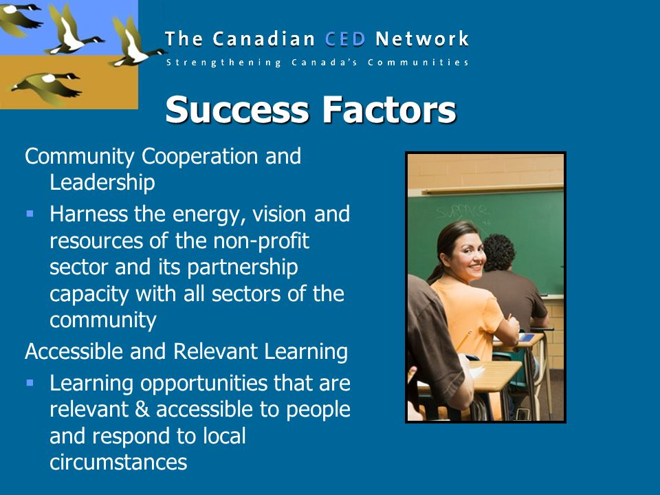 Success Factors Community Cooperation and Leadership