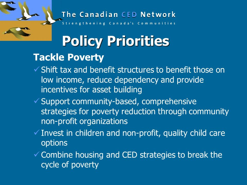 Policy Priorities Tackle Poverty