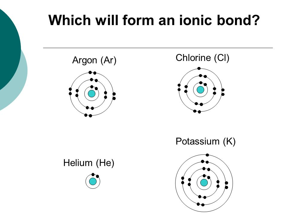 Which will form an ionic bond