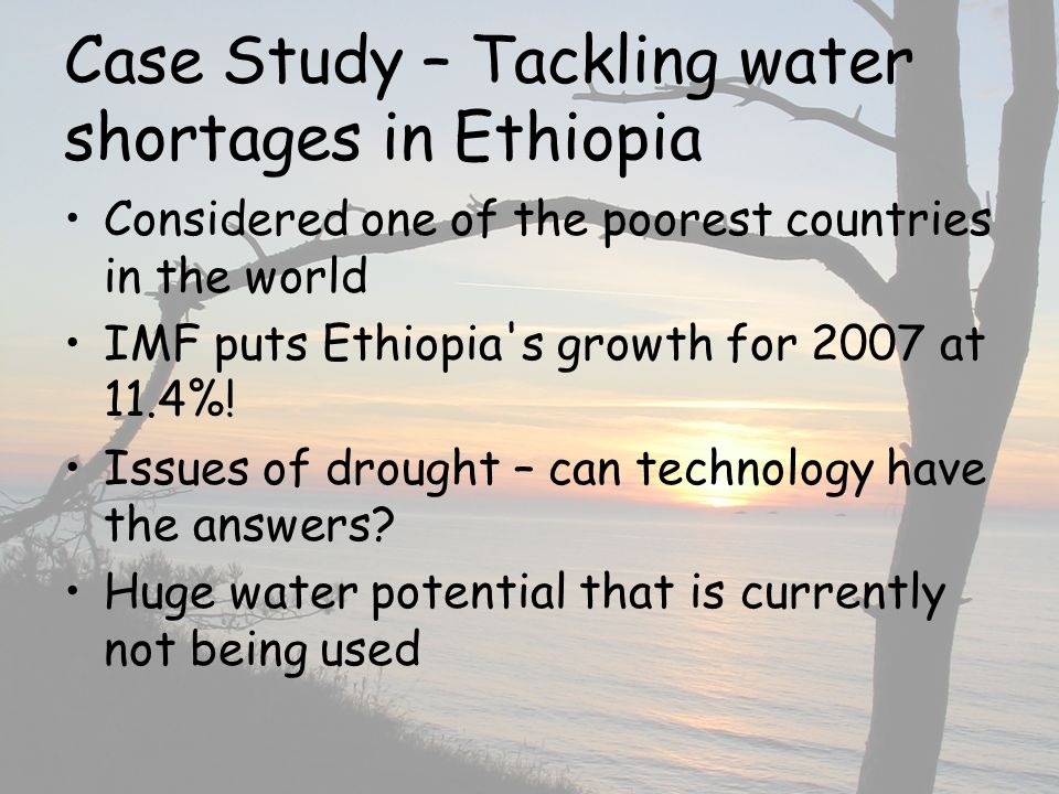 Case Study – Tackling water shortages in Ethiopia