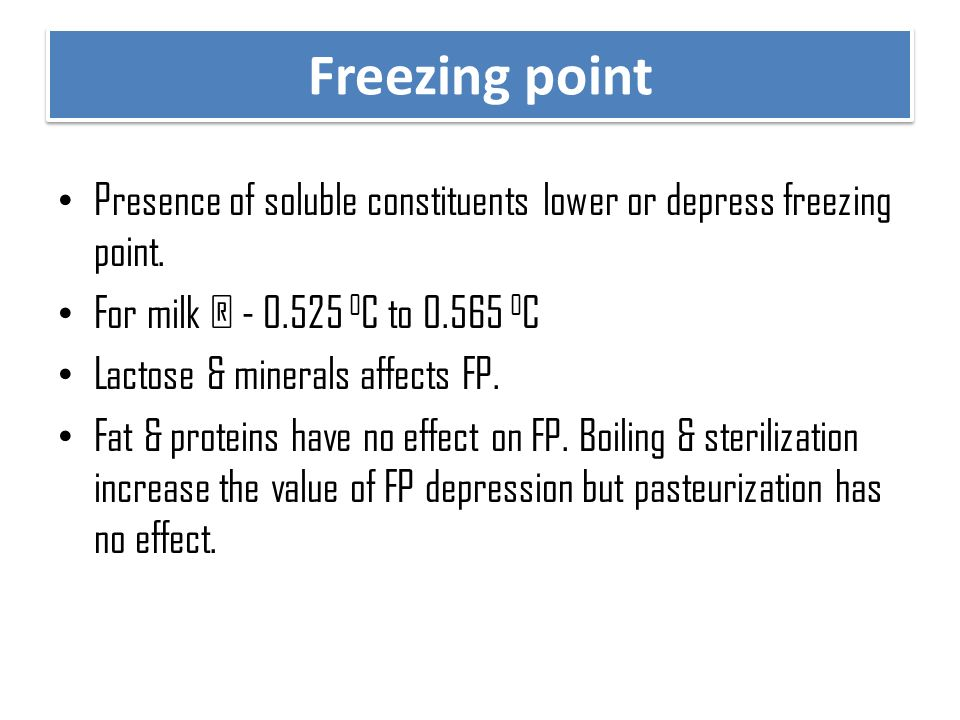 PHYSICO-CHEMICAL PROPERTIES OF MILK - ppt video online download