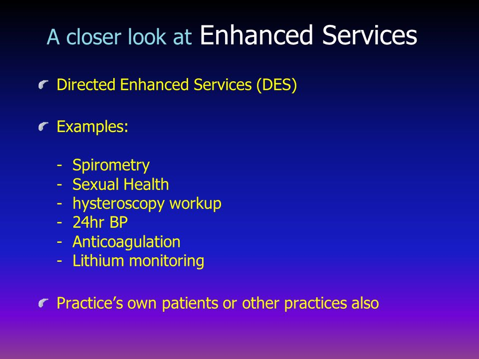 A closer look at Enhanced Services