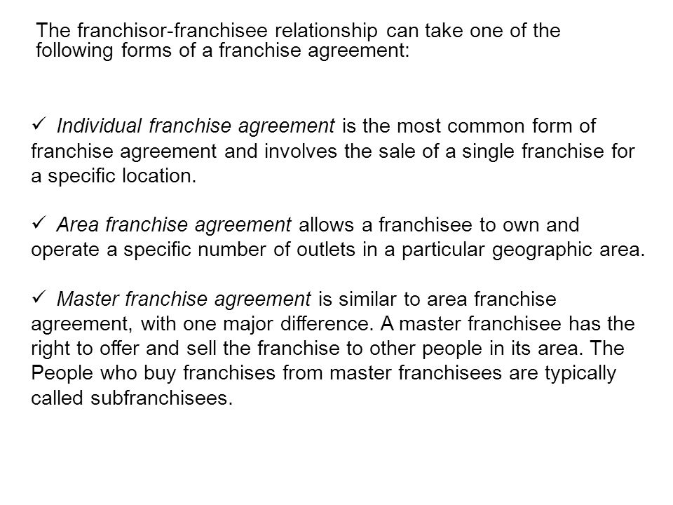 Chapter 8 Franchising A Growth Strategy Ppt Video Online Download