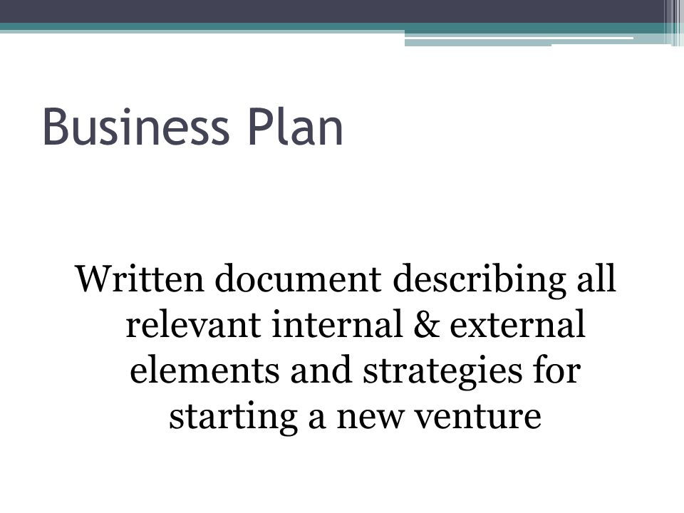 the business plan creating and starting the venture ppt download