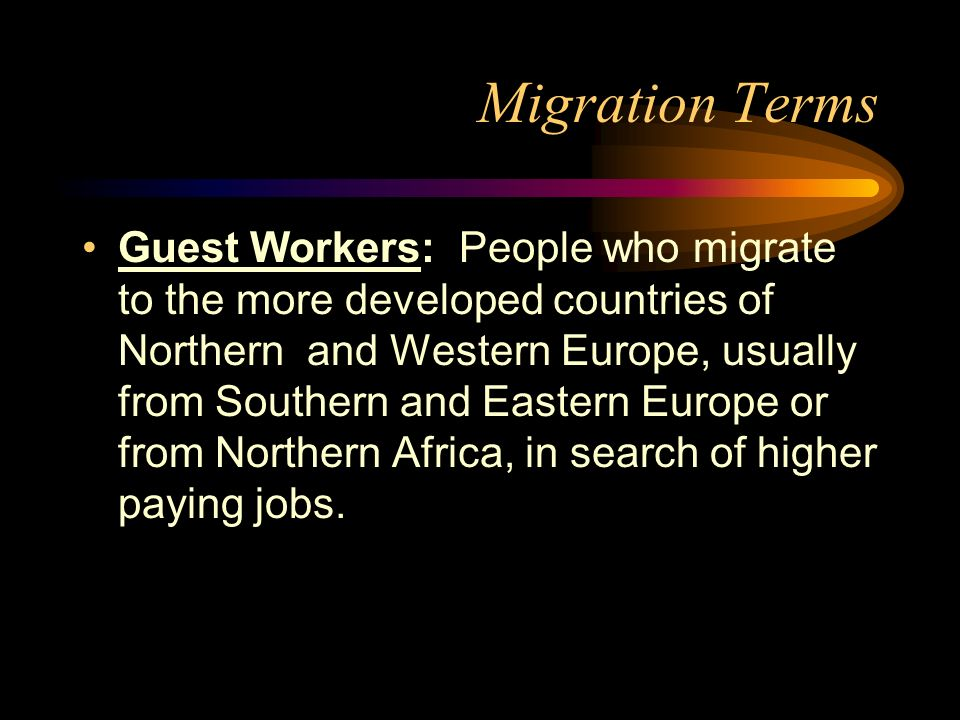 Migration Terms