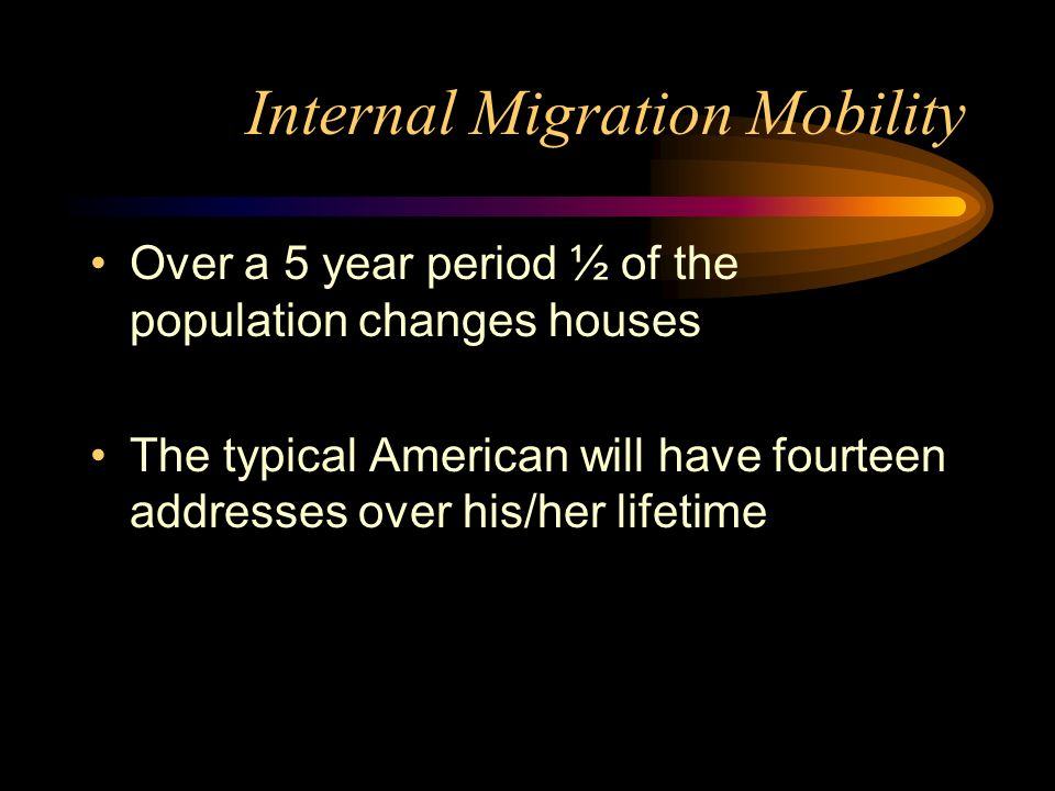 Internal Migration Mobility