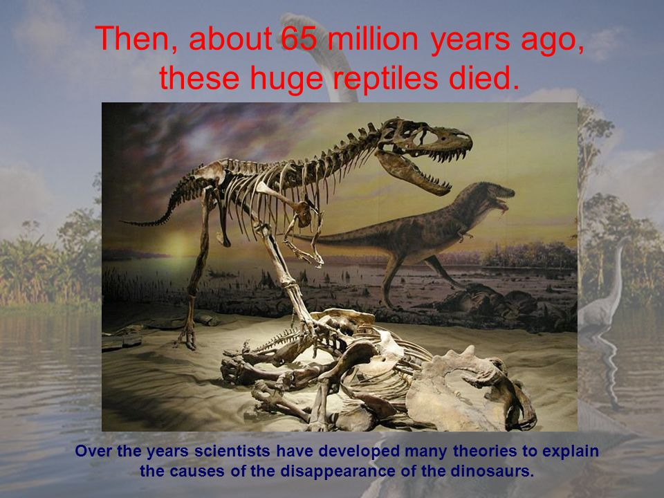 explaining dinosaurs extintion The end of the cretaceous period marks one of earth,s mysteries, the extinction of the dinosaurs many theories have been put forward to explain this, after all they did live for 160 million years some theories are it could have been climate change, radiation from the sun, disease, and other mammals increasing in numbers eating their eggs.