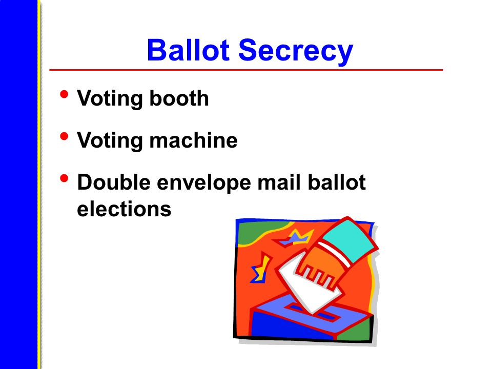 Ballot Secrecy Voting booth Voting machine