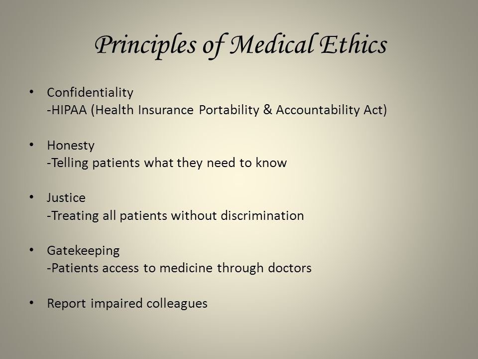 understanding the principles of medical ethics Chapter 1  understanding ethics  chapter summary   21 moral standards are principles based on religious, cultural, or philosophical beliefs by which judgments are made about good or bad behavior  312 ethics for the greater good is a theory that is more focused on the outcome.
