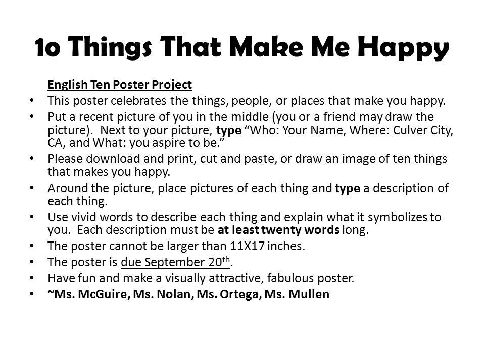 10 THINGS THAT MAKE ME HAPPY P...