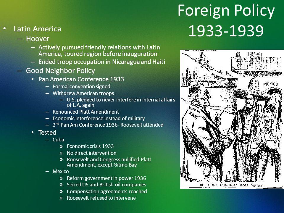 good neighbor policy 1933