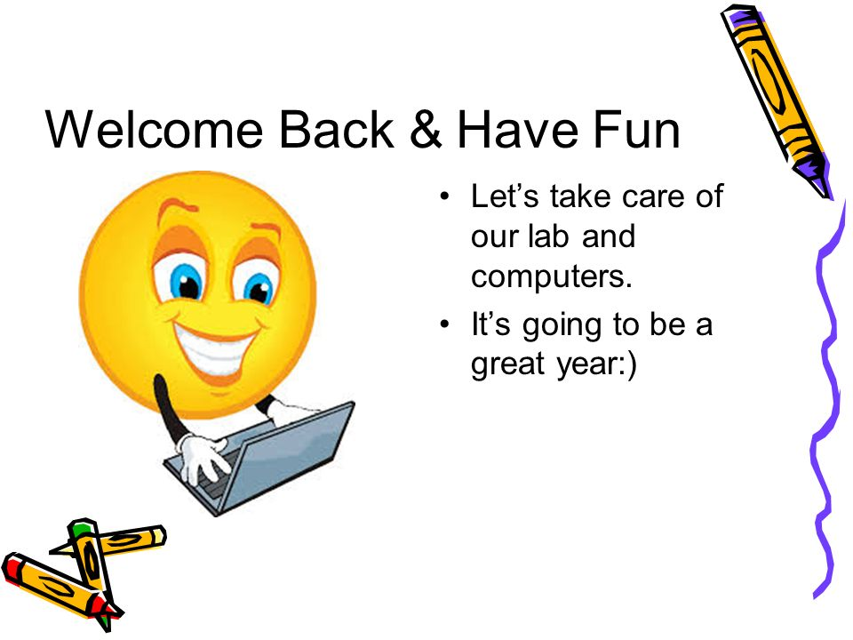 Welcome Back To School And To Computer Class Ppt Video Online
