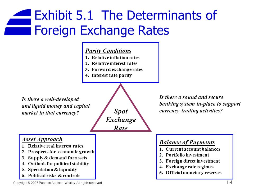 Exhibit 5 1 The Determinants Of Foreign Exchange Rates