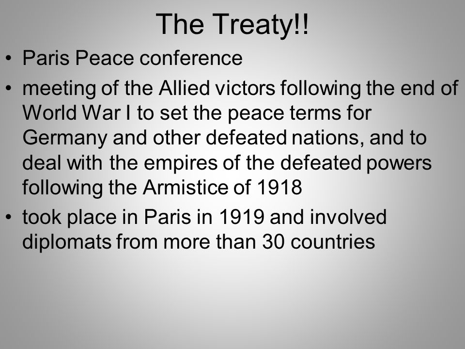 where did the treaty of paris take place