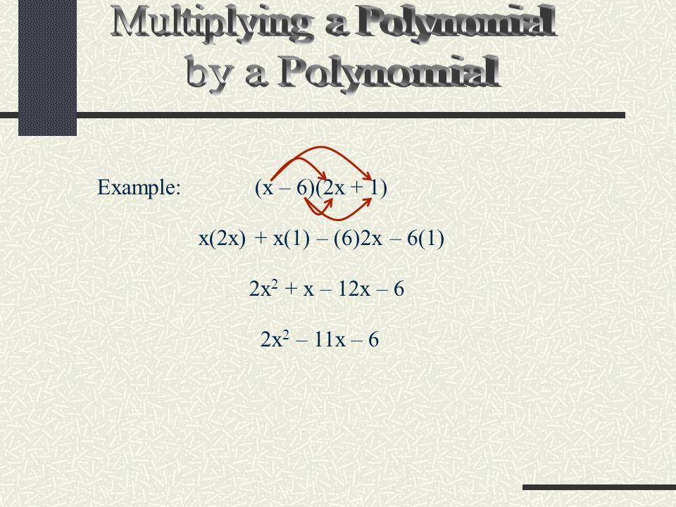 Multiplying a Polynomial