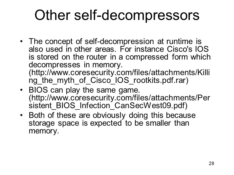 Other self-decompressors