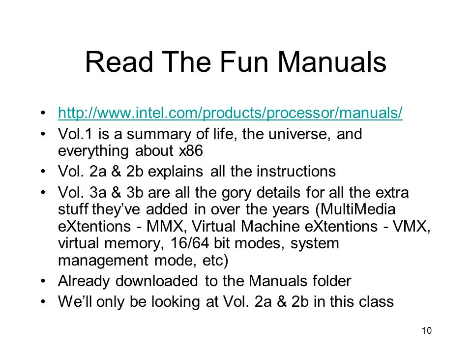 Read The Fun Manuals http://www.intel.com/products/processor/manuals/