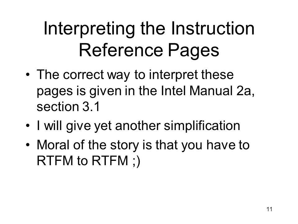 Interpreting the Instruction Reference Pages