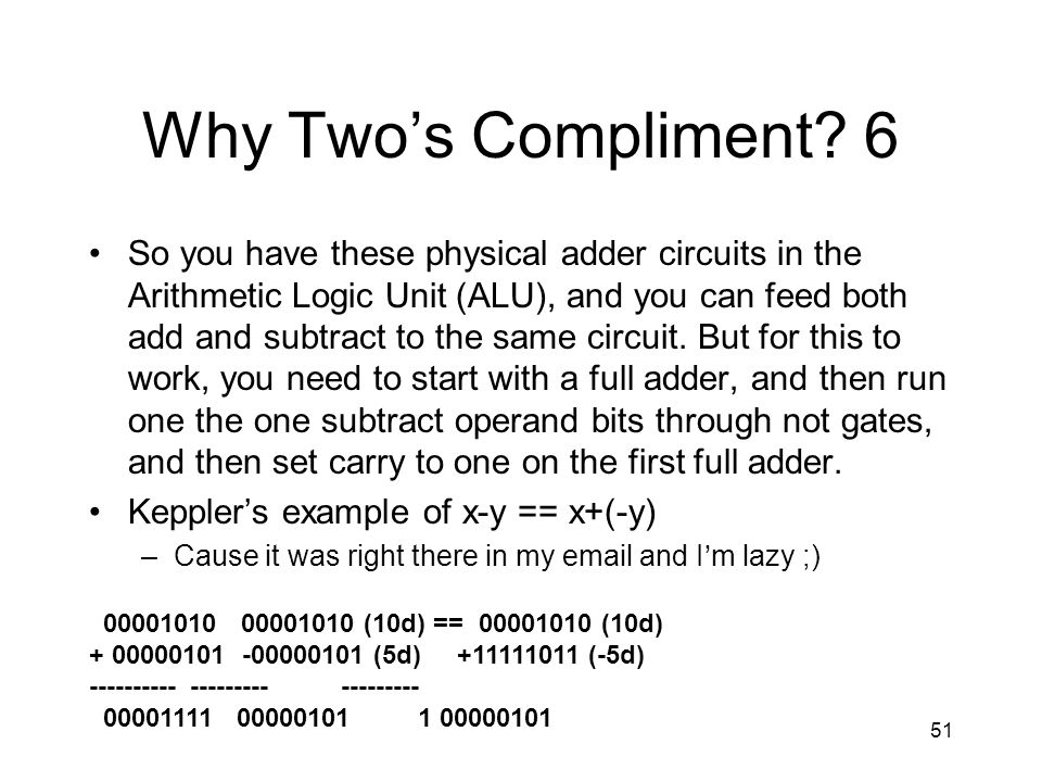 Why Two's Compliment 6