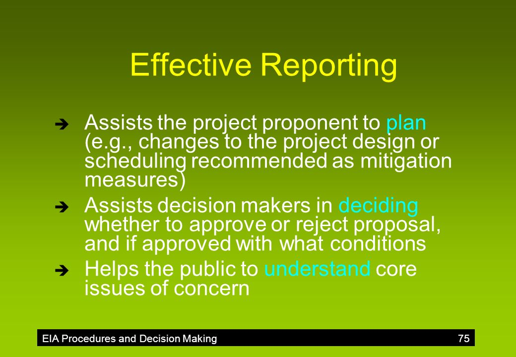 objectives of environmental impact assessment pdf