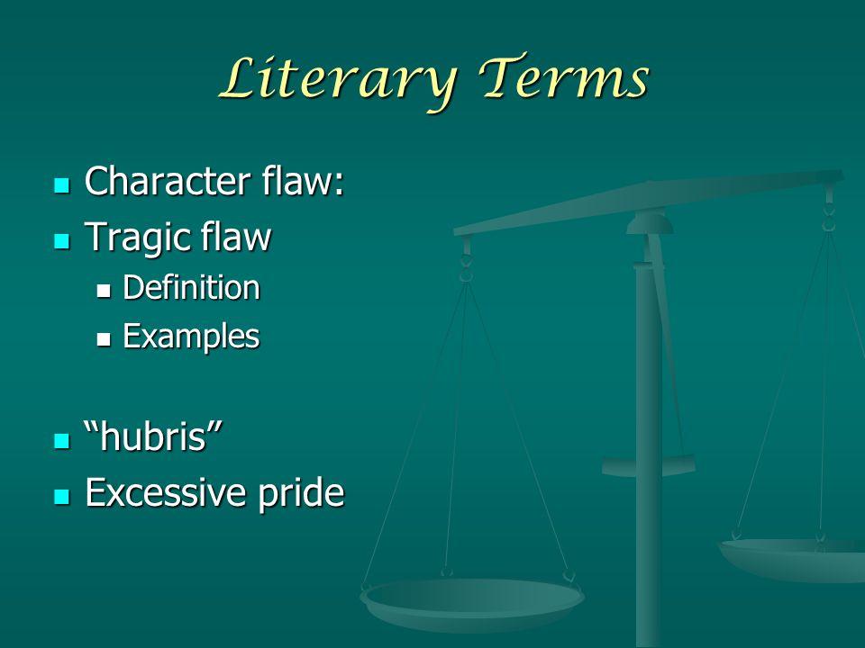 hubris literary term definition