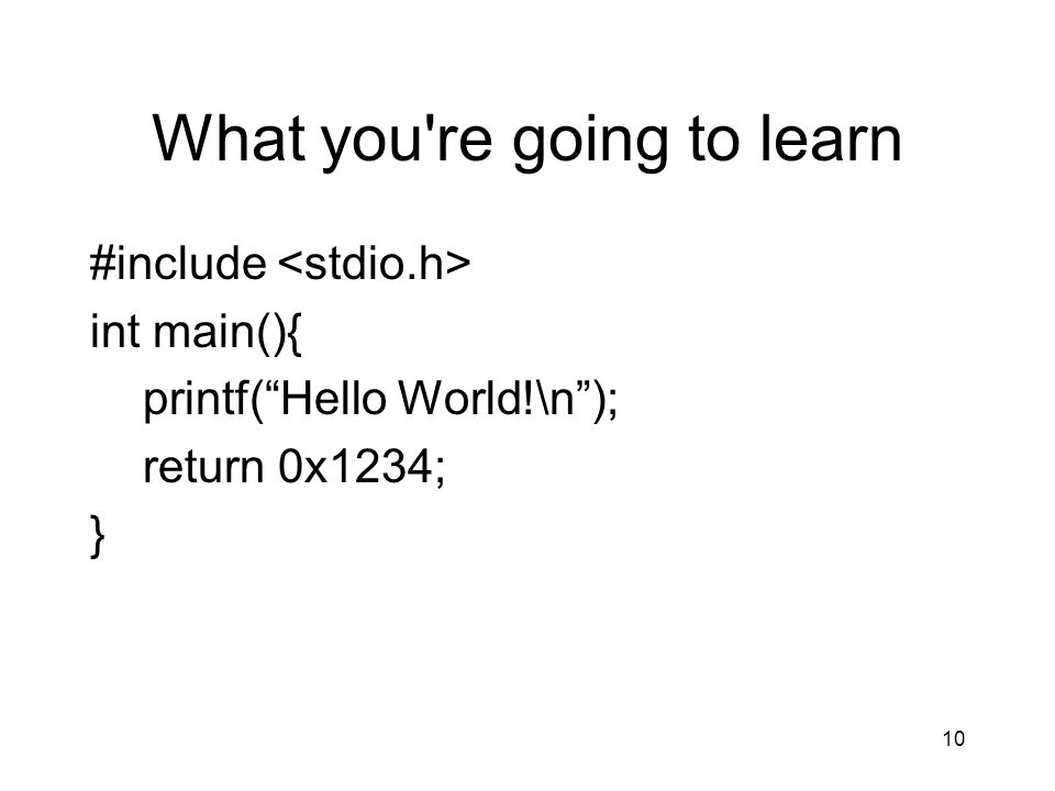 What you re going to learn