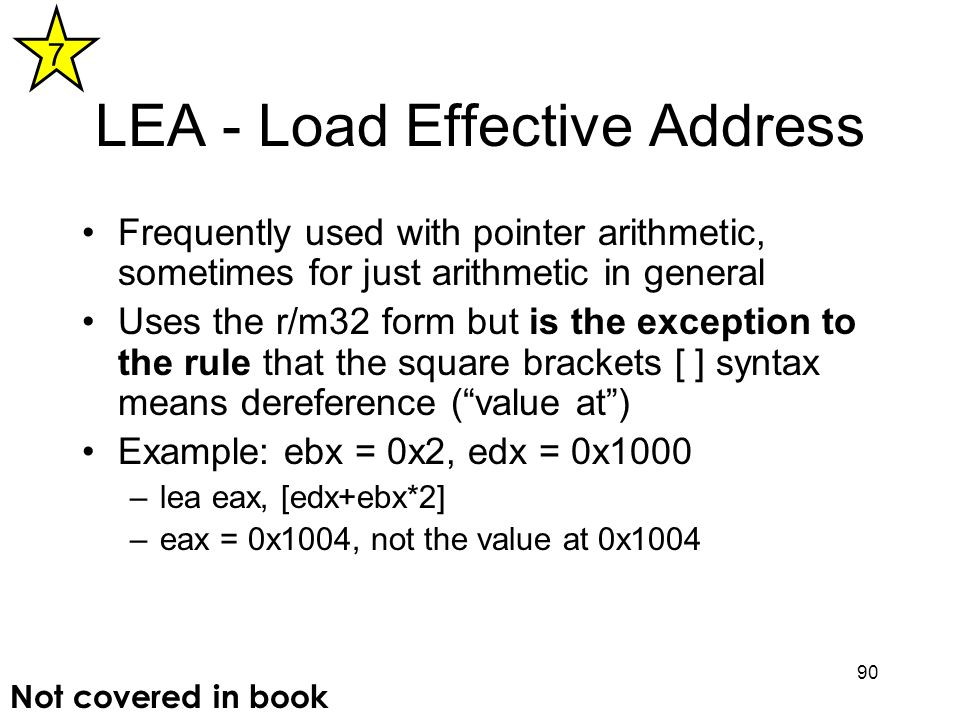 LEA - Load Effective Address