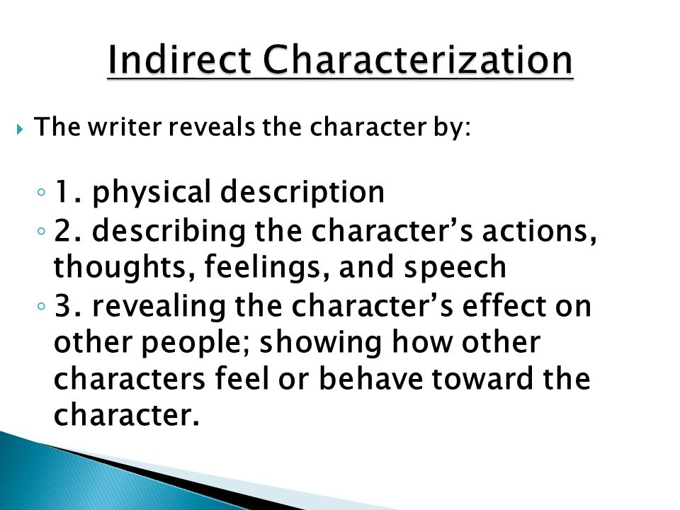 Indirect Characterization