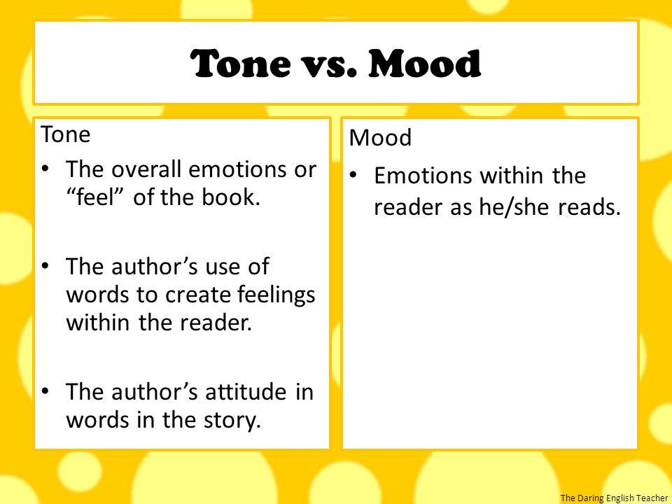 tone vs mood in literature