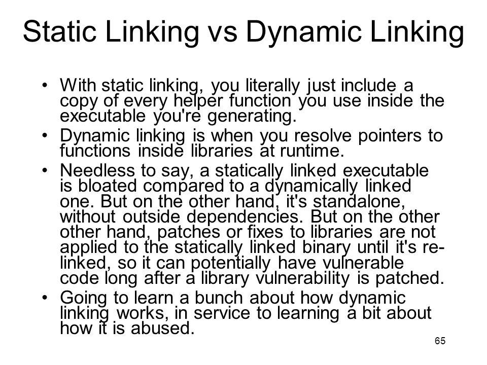 Static Linking vs Dynamic Linking