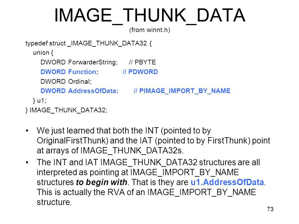 IMAGE_THUNK_DATA (from winnt.h)