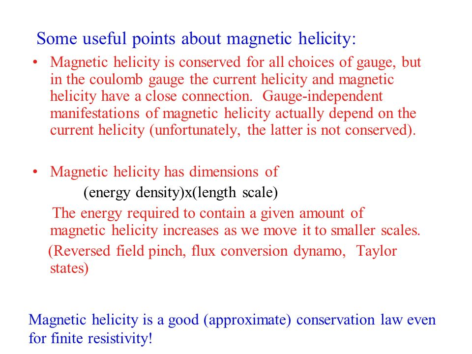 Some useful points about magnetic helicity: