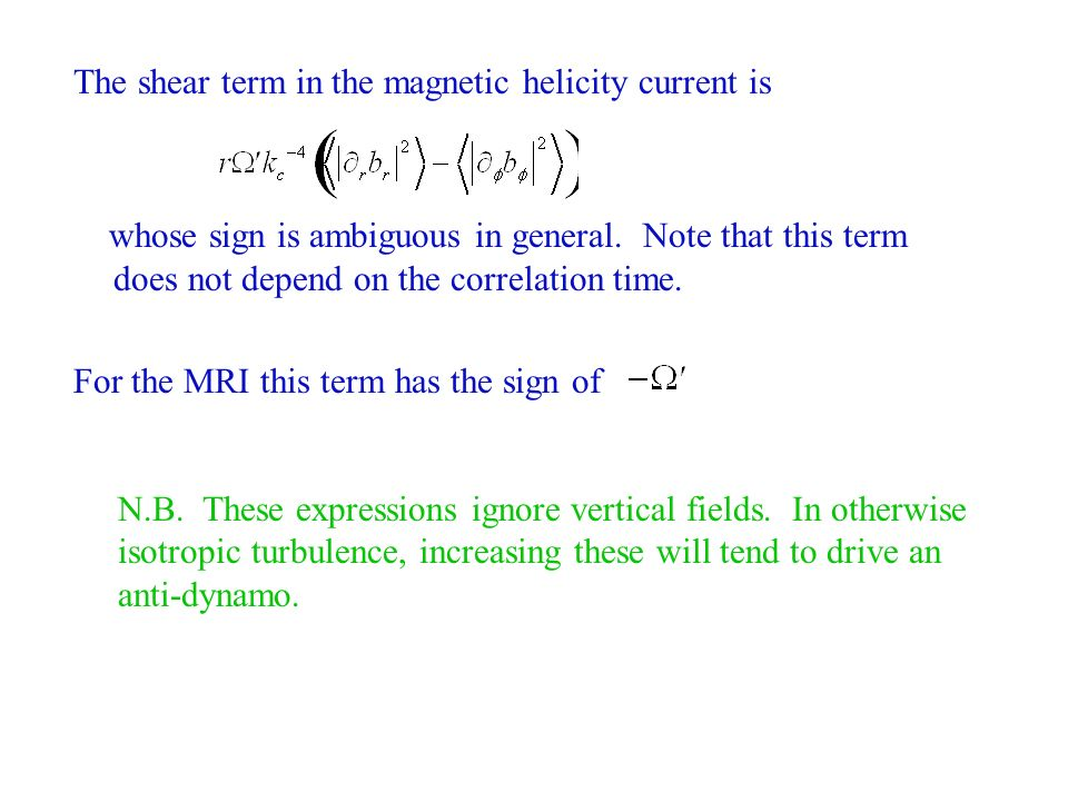 The shear term in the magnetic helicity current is