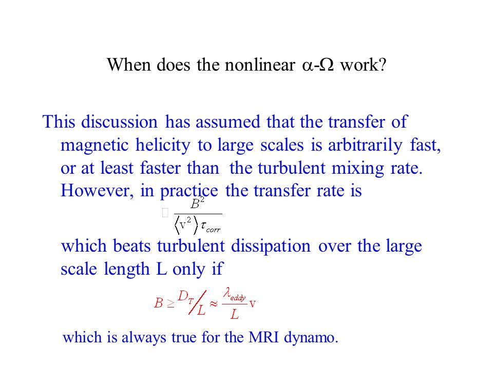 When does the nonlinear - work