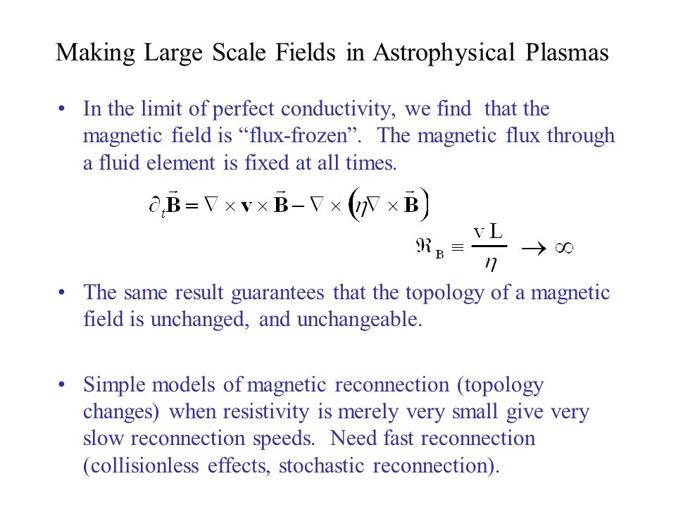 Making Large Scale Fields in Astrophysical Plasmas