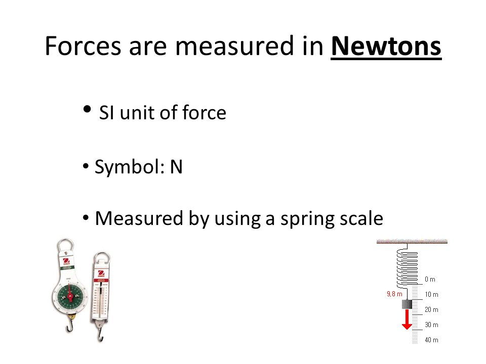 Forces are measured in Newtons