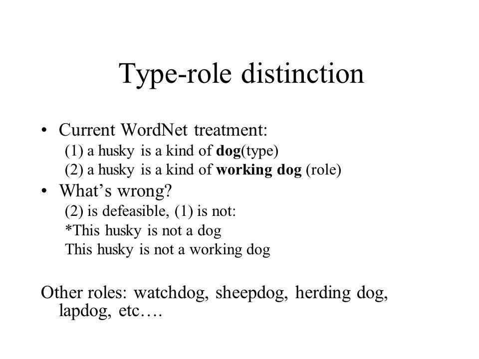 Type-role distinction