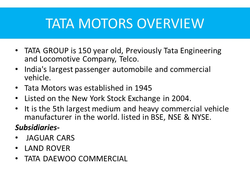 the tata group business overview Tata - gems open programmes custom programmes learning disciplines leadership & organization  diversity, ethics & sustainability strategy & operations.