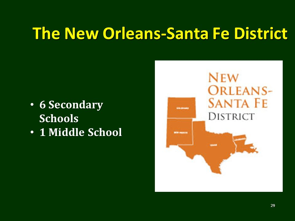 The New Orleans-Santa Fe District
