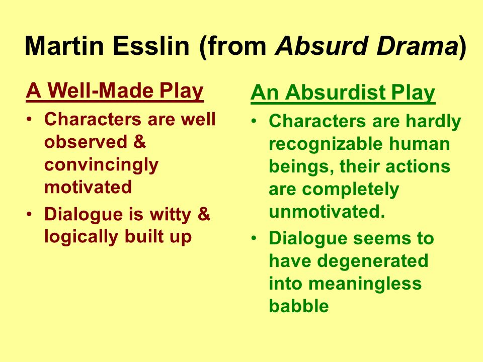 martin esslin theatre of the absurd
