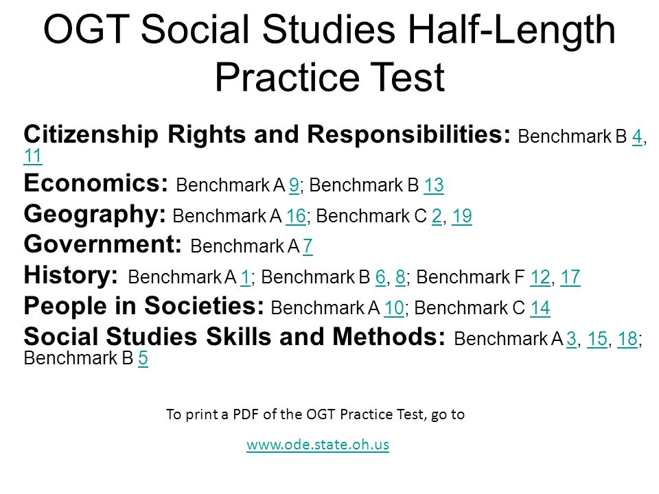 OGT Social Studies Half-Length Practice Test - ppt download