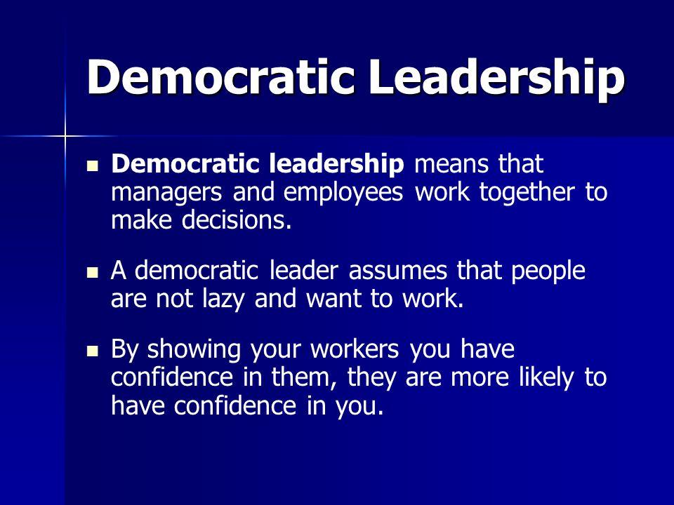 democratic leadership definition