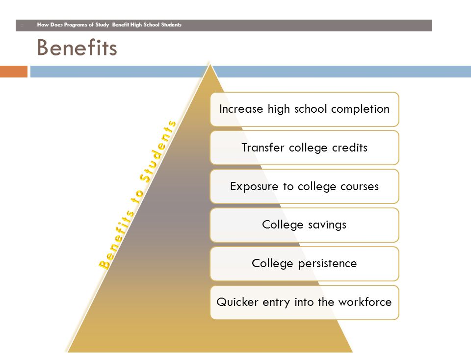Benefits Benefits to Students KH