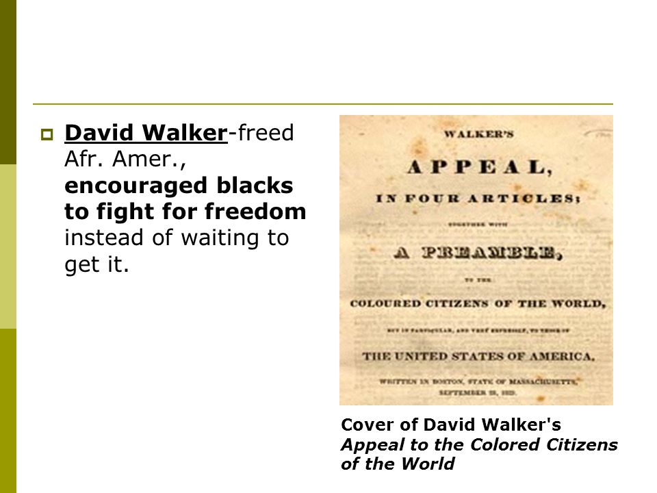 David Walker-freed Afr. Amer