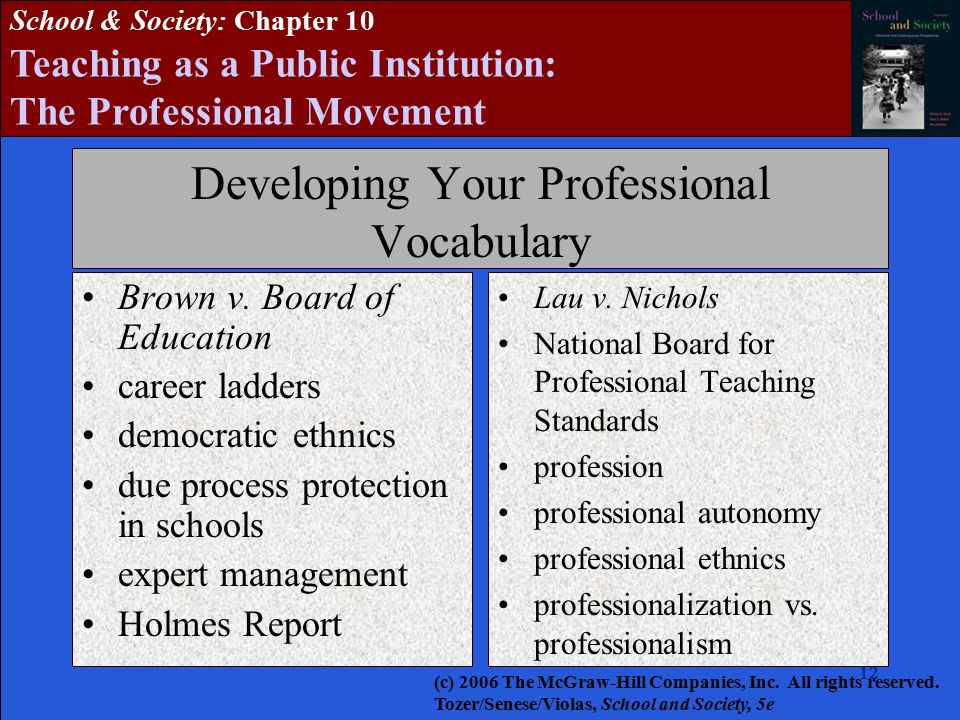 Teaching In A Public Institution The Professionalization